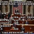 House tax vote. Image-CSPAN screengrab
