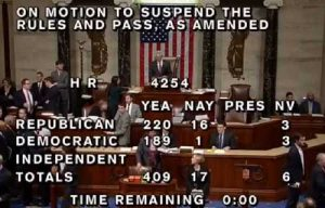 House tax vote. Image-CSPAN screengrab