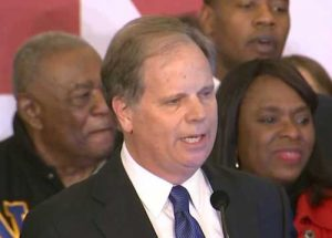 Alabam's Senate-Elect Doug Jones at his victory speech. Screengrab