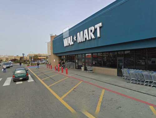 Walmart on A Street. Image-Google Maps