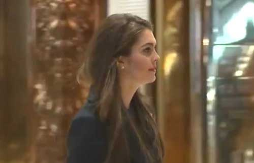 White House Communications Director Hope Hicks. Screengrab