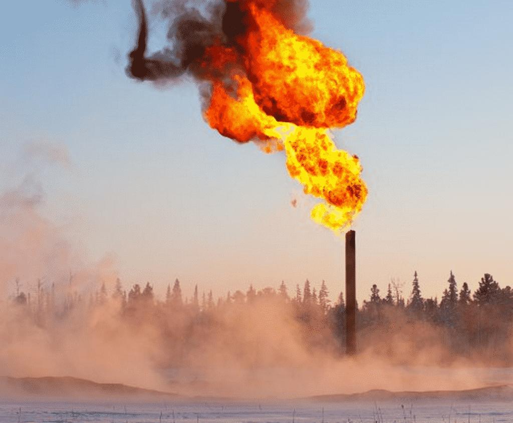 Methane flare. image- Globalchange.gov