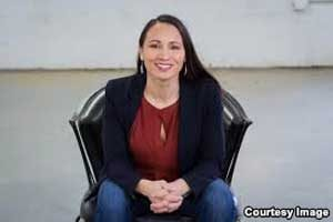 Sharice Davids, a Democratic member of the Ho-Chunk Nation, is running to represent Kansas' third district in the House of Representatives.