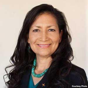 "Debra ""Deb"" Haaland, Democrat, member of the San Felipe Pueblo in New Mexico, is running for a seat in Congress in the 2018 midterm election."