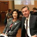 Hawkins and his wife, Toyoko, before the ARP convention speech