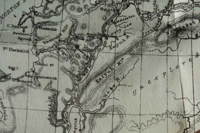 Detail of William Dall's 1870 Alaska map. Image-Alaska and its Resources
