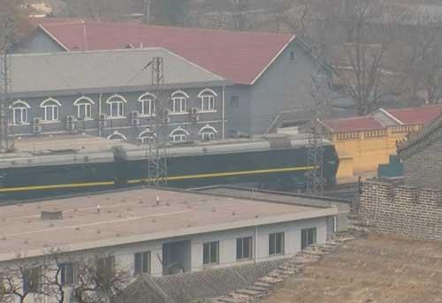 Mystery train in Beijing.-Screengrab