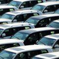 Chinese cars awaiting export.
