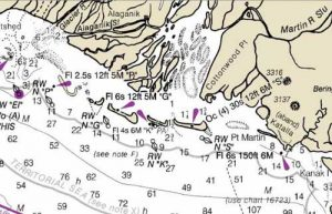 General area at the mouth of the  Copper River where the slain Sea Lions were found. Image-NOAA