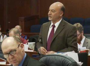 Representative Gara speaking in the House. Image-video screengrab