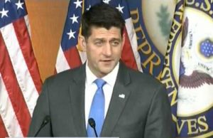 House Speaker Paul Ryan announcing that he will not run for re-election. Image-screengrab CSPAN video