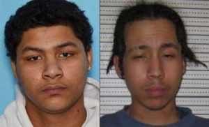 19-year-old Mickee Thompson(r) and 18-year-old Robert Smith (l) are wanted for Murder. Image-APD
