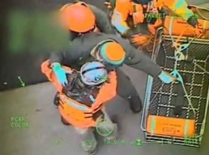 USCG footage of Maia H medevac.