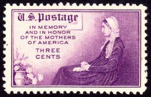 The US Postal Service released a postage stamp in honor of Mother'sDay featuring James Whistler's painting in 1934. Image-USPS