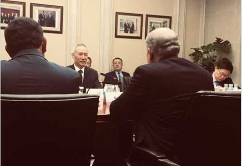 Governor Bill Walker meets with Vice Premier Liu He in Beijing on Sunday immediately after the Vice Premier's return from Washington D.C. Image-State of Alaska