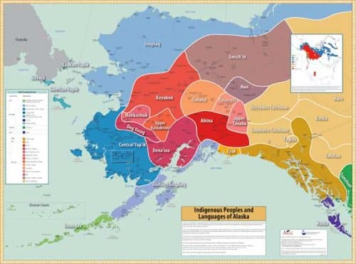 The Native Peoples and Languages of Alaska Map courtesy of Alaska Native Language Center.