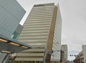 The ConocoPhillips building in downtown Anchorage