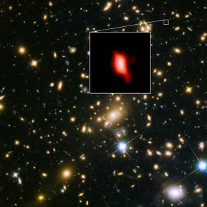 Hubble and ALMA image of MACS J1149.5+2223