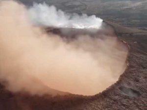 Aerial view of Kilauea crater. Image-Youtube screengrab