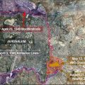 Map of Jerusalem showing the changing lines that created the territorial anomaly where the new U.S. embassy to Israel will be partly located. Image-VOA