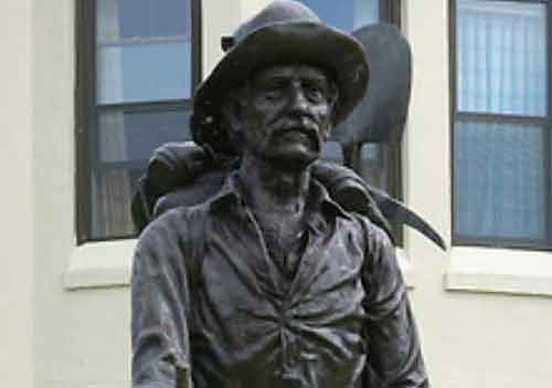 Statue in front of Sitka Pioneers home.