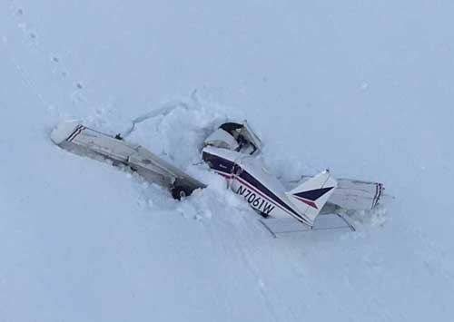 Piper PA 28-180 crash site near Whittier. Image-AST