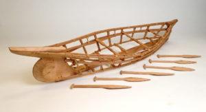 Angyaq frame model by Teacon Simeonoff, Alutiiq Museum collections. Image-Alutiiq Museum
