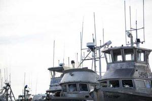 Boats at the dock in Aleknagik,.Image-Dennis Wise/University of Washington