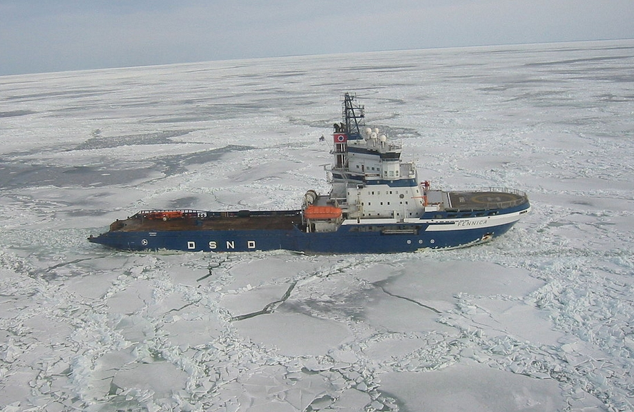 The icebreaker Fennica in the Bay of Botnia. Image-Marcusroos