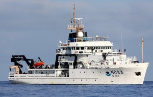 NOAA Ship Reuben Lasker is one of the most technologically advanced fisheries vessels in the world. Photo credit: R.L. Pitman
