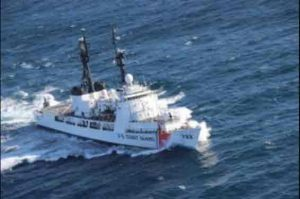 The Cutter Morganthau, pictured here, arrived on scene to continue the search for the f/v Destination and her crew. Image-USCG