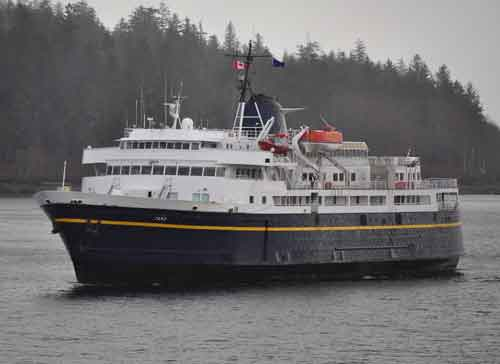 The Alaska Marine Highway's ferry Taku. Image-AMHS