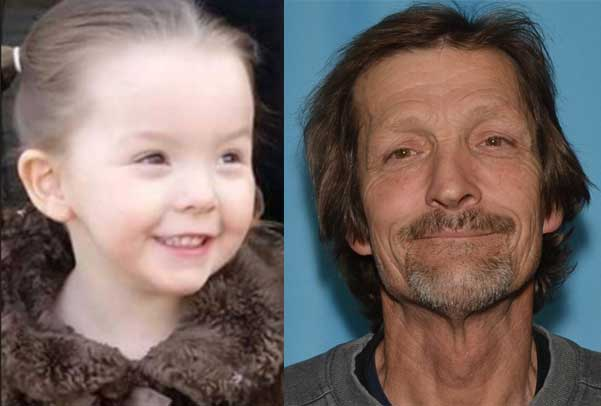 Troopers are asking the public to locate four-year-old Charlie Martin or her father, 57-year-old Raymond Martin. Images-AST