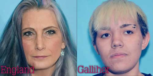 Two of the eight are still at large. Mona England and Patricia Galliher have warrants for their arrest. Image-APD