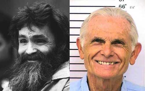 The notorious 1970's serial killer, Charles Manson.