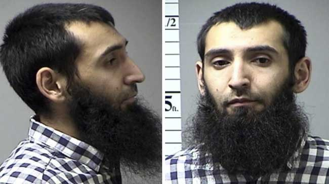 Booking photos of 29-year-old Sayfullo Saipov. Images-Missouri Dept of Corrections