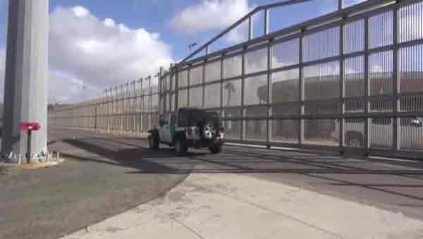 Section of border wall. Image-VOA