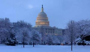 Capitol building in snow. Image-capitol.gov