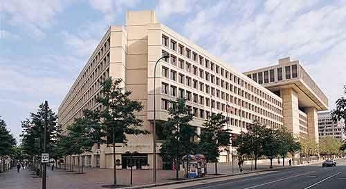The Federal Bureau of Investigations building in Washington DC. Image-FBI