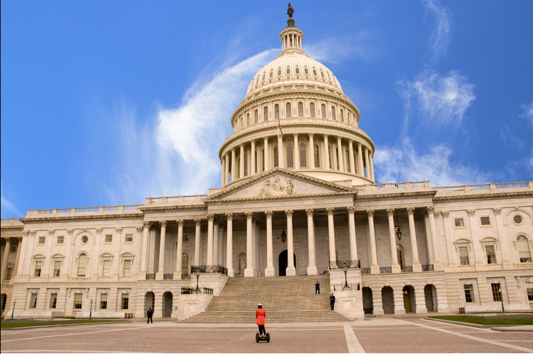 The U.S. Capitol in Washington D.C. was evacuated briefly on Saturday after airspace intrusion. Image-David Maiolo | Wikipedia