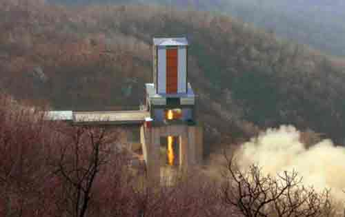 Sohae Space Center ballistic missile engine test. Image-KCNA