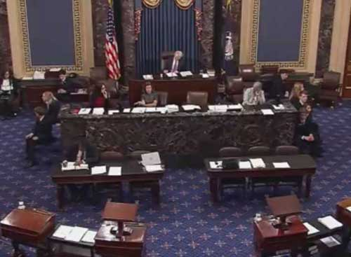 Senate roll call. Image CSPAN screengrab