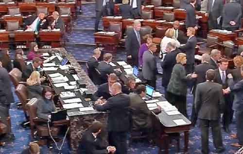 U.S. Senate during Rural Healthcare vote. Image-C-Span video screenshot