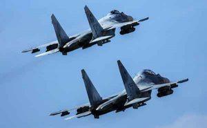Two Russian Su-35s Photo: Sergey Savostianov / TASS