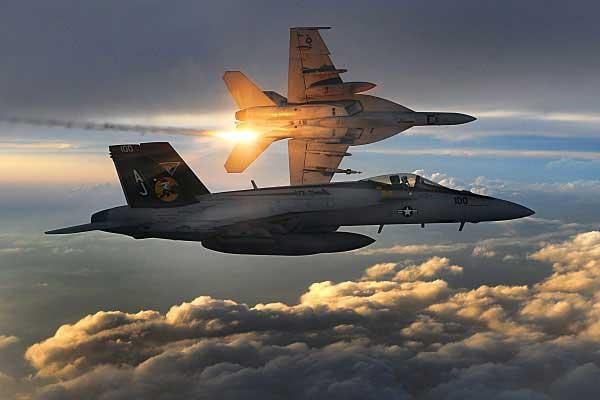 Two Super-Hornets. Image-USN