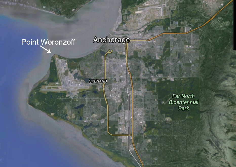 Location of Point Woronzoff. Image-Google Maps