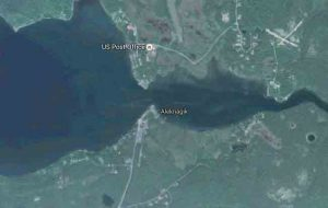 Aleknagik straddles the mouth of the Wood River on Aleknagik 16 miles northwest of Dillingham. Image-Google maps