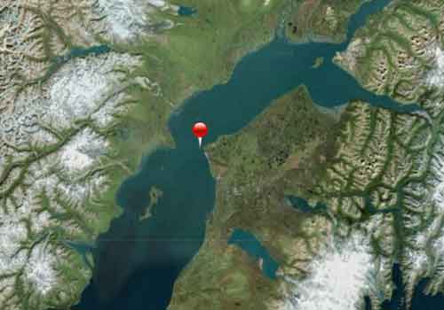 Location of Hilcorp's Anna Platform off-shore of Nikiski in Cook Inlet. Image-ADEC