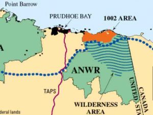 Map showing ANWR and the 1002 Area. Image-USGS