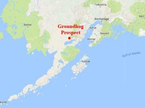 Location of the Groundhog Prospect to the south of the proposed Pebble Mine. Image-Google Maps